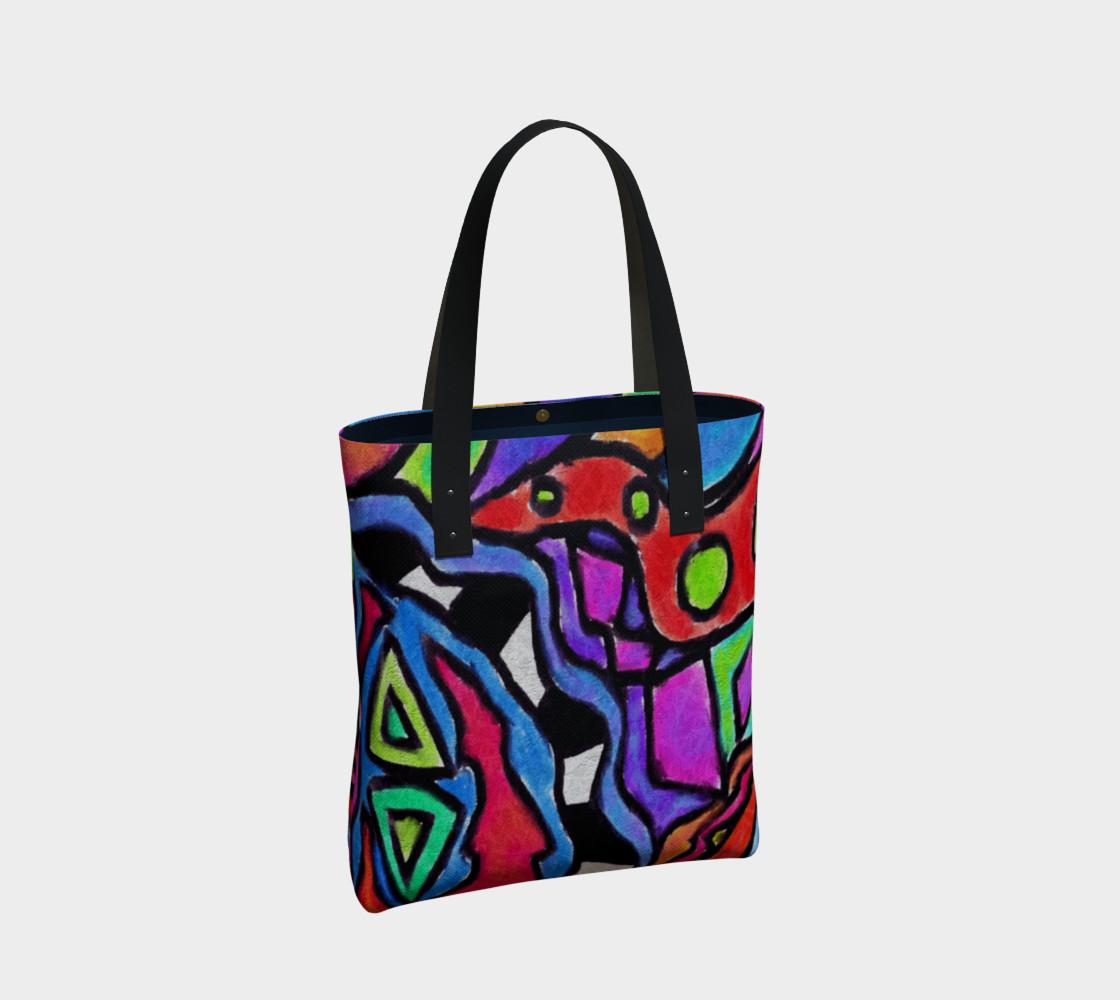 Aperçu de Colorful Abstract Art Shoulder Bag #2