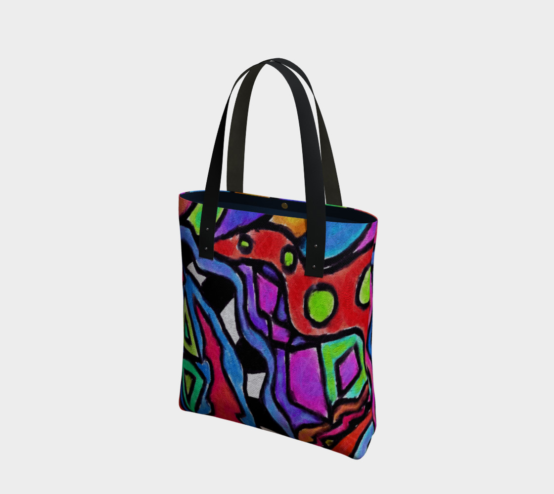 Aperçu de Colorful Abstract Art Shoulder Bag #1