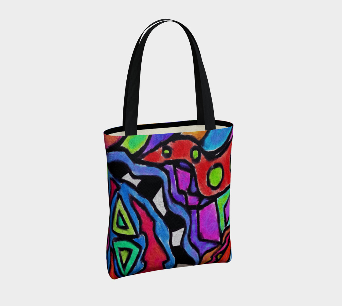 Aperçu de Colorful Abstract Art Shoulder Bag #4