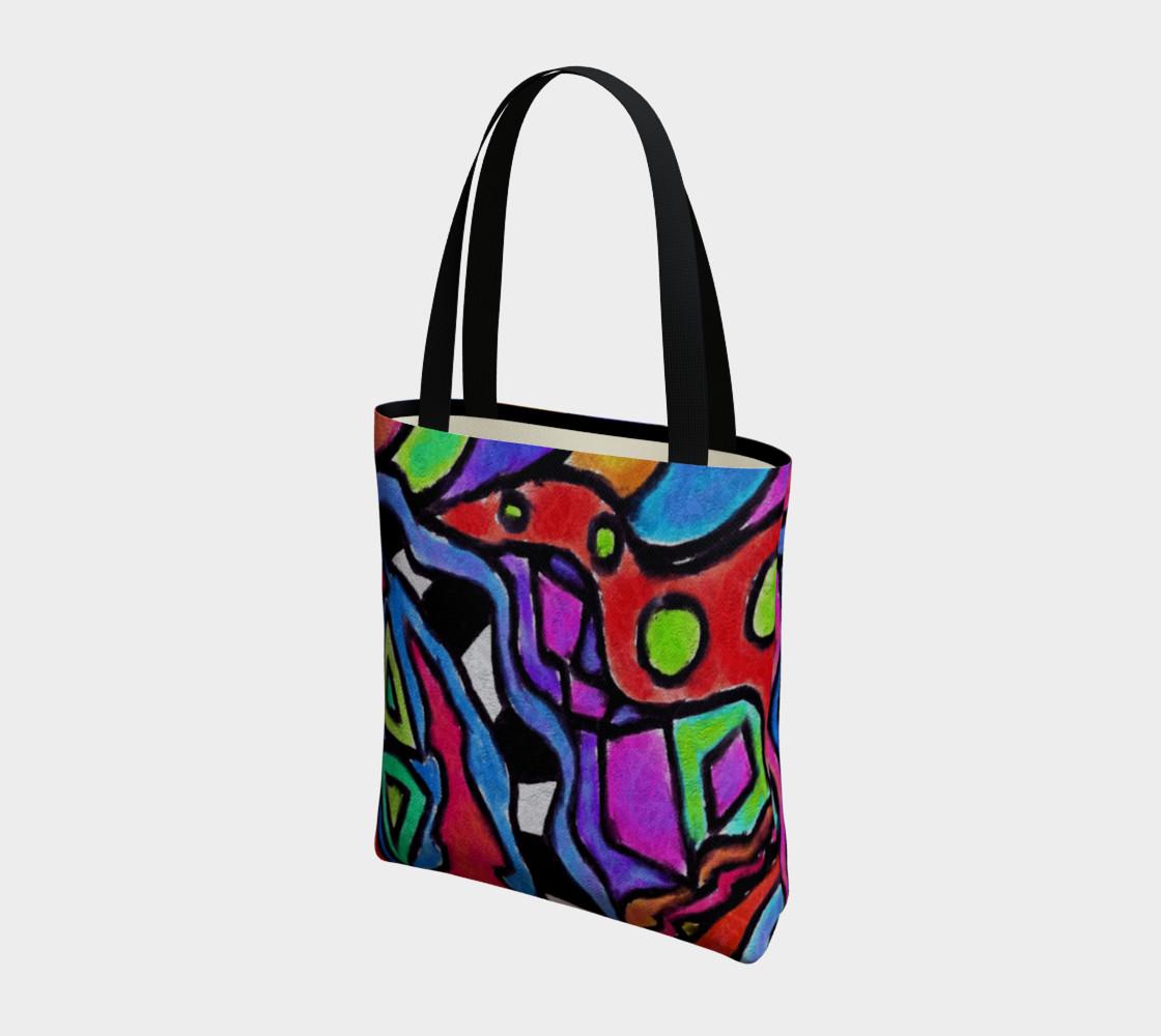 Aperçu de Colorful Abstract Art Shoulder Bag #3