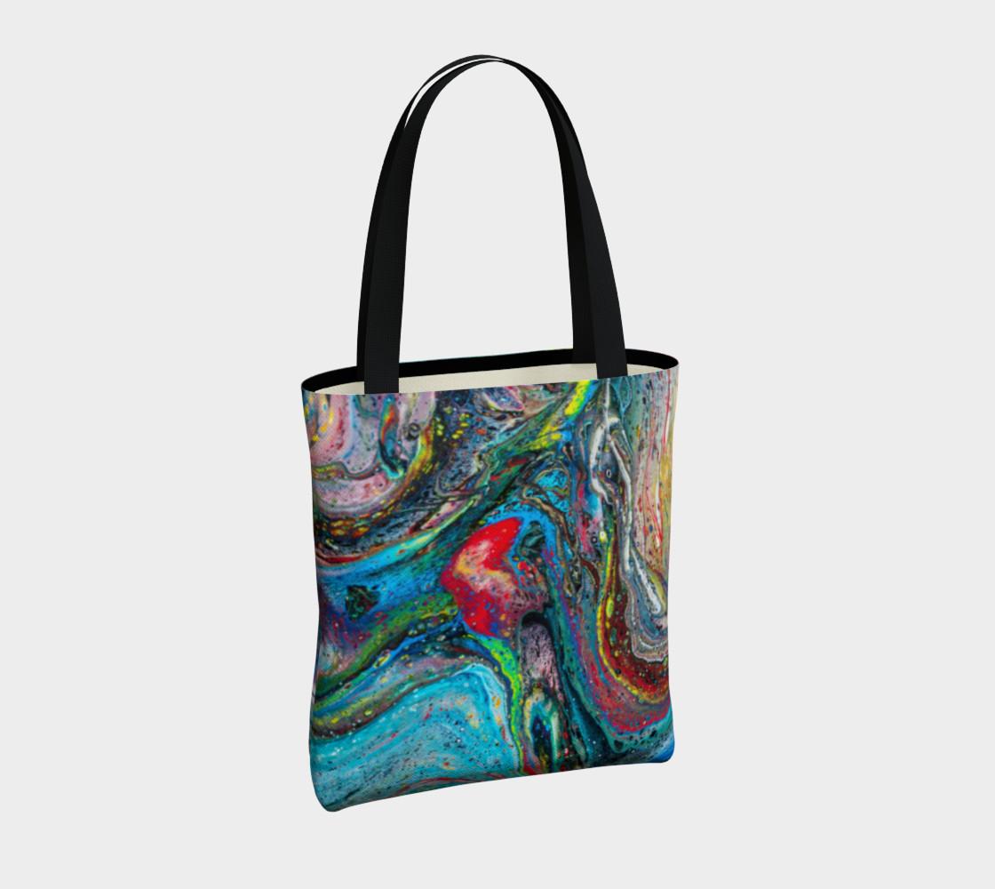 A River Runs Through It Acrylic Pour Art preview #4