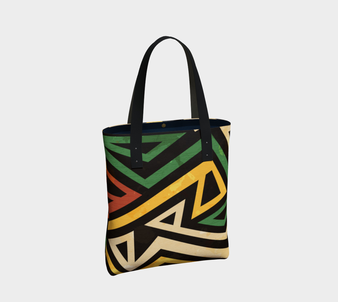 Afrocentric Geometric Tote bag (print by Gudinny) preview #2