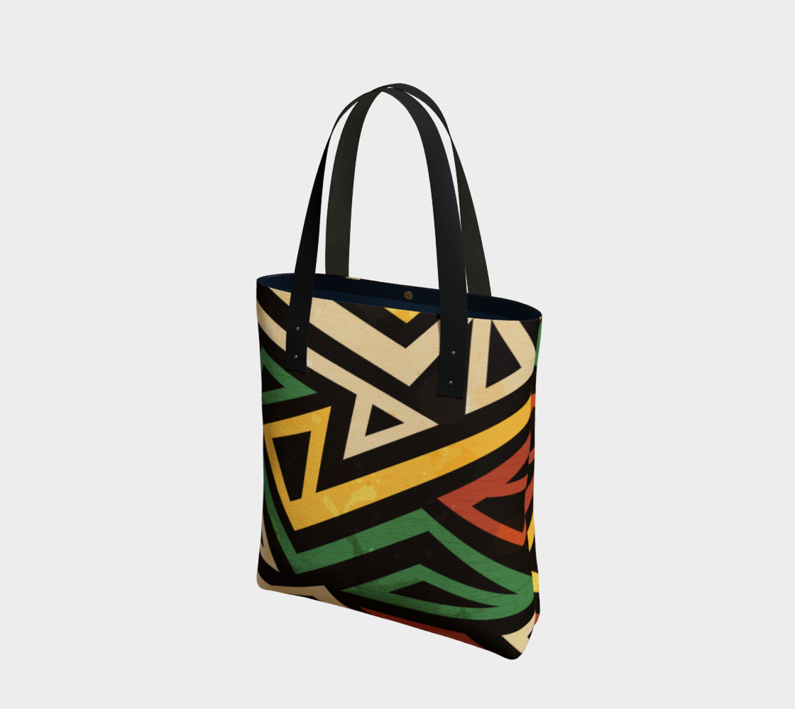 Afrocentric Geometric Tote bag (print by Gudinny) preview #1