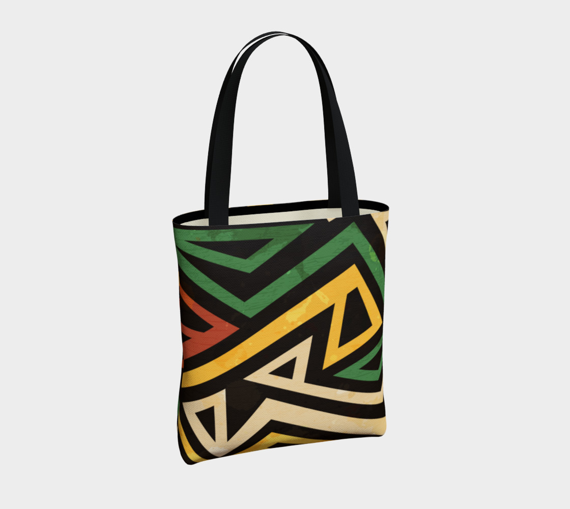 Afrocentric Geometric Tote bag (print by Gudinny) preview #4