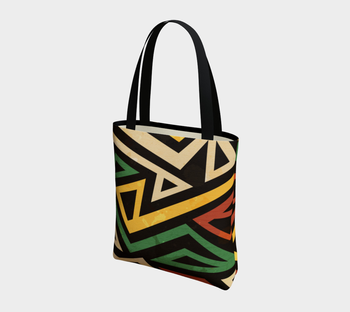 Afrocentric Geometric Tote bag (print by Gudinny) preview #3