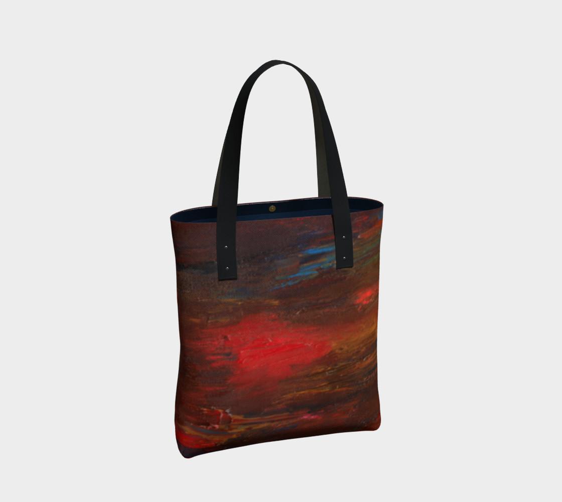 Crimson Ocean Tote Bag preview #2