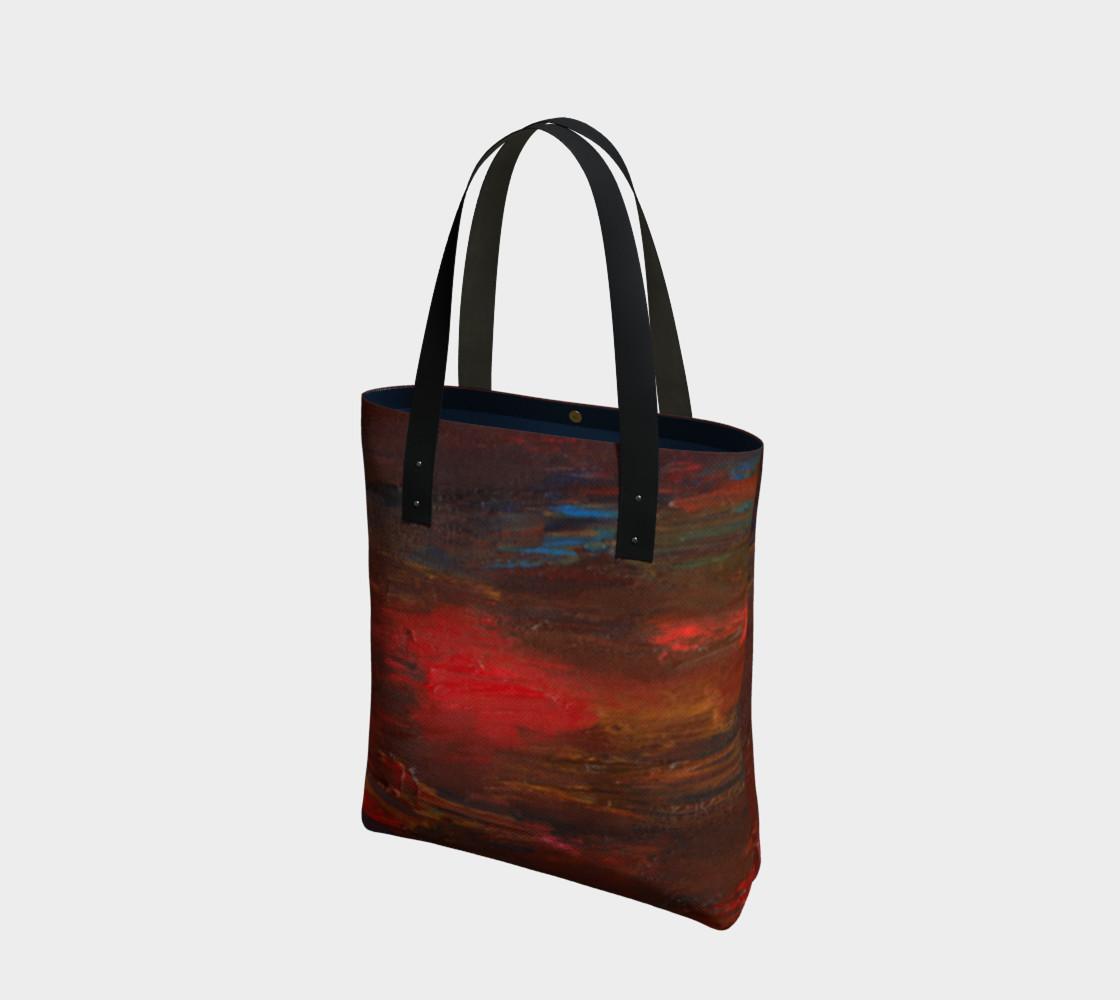 Crimson Ocean Tote Bag preview #1