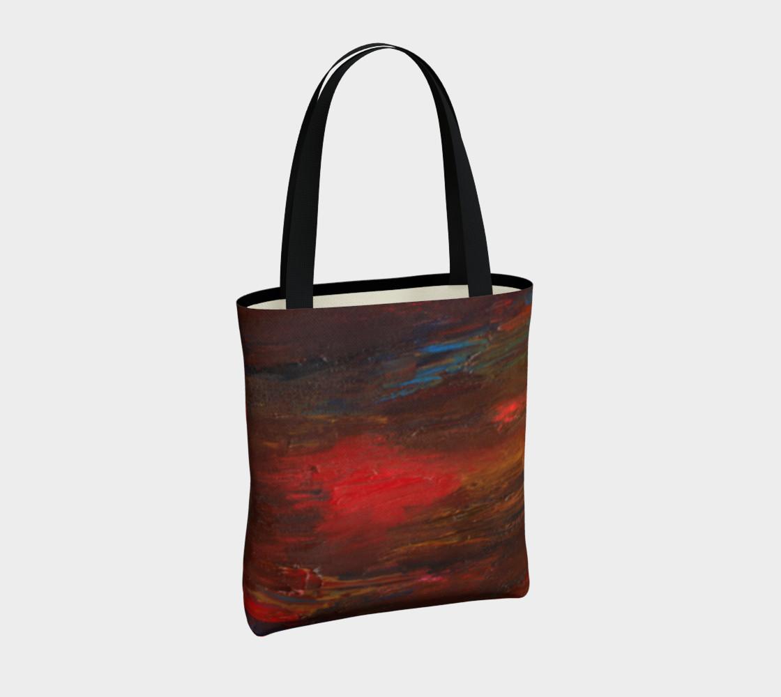 Crimson Ocean Tote Bag preview #4