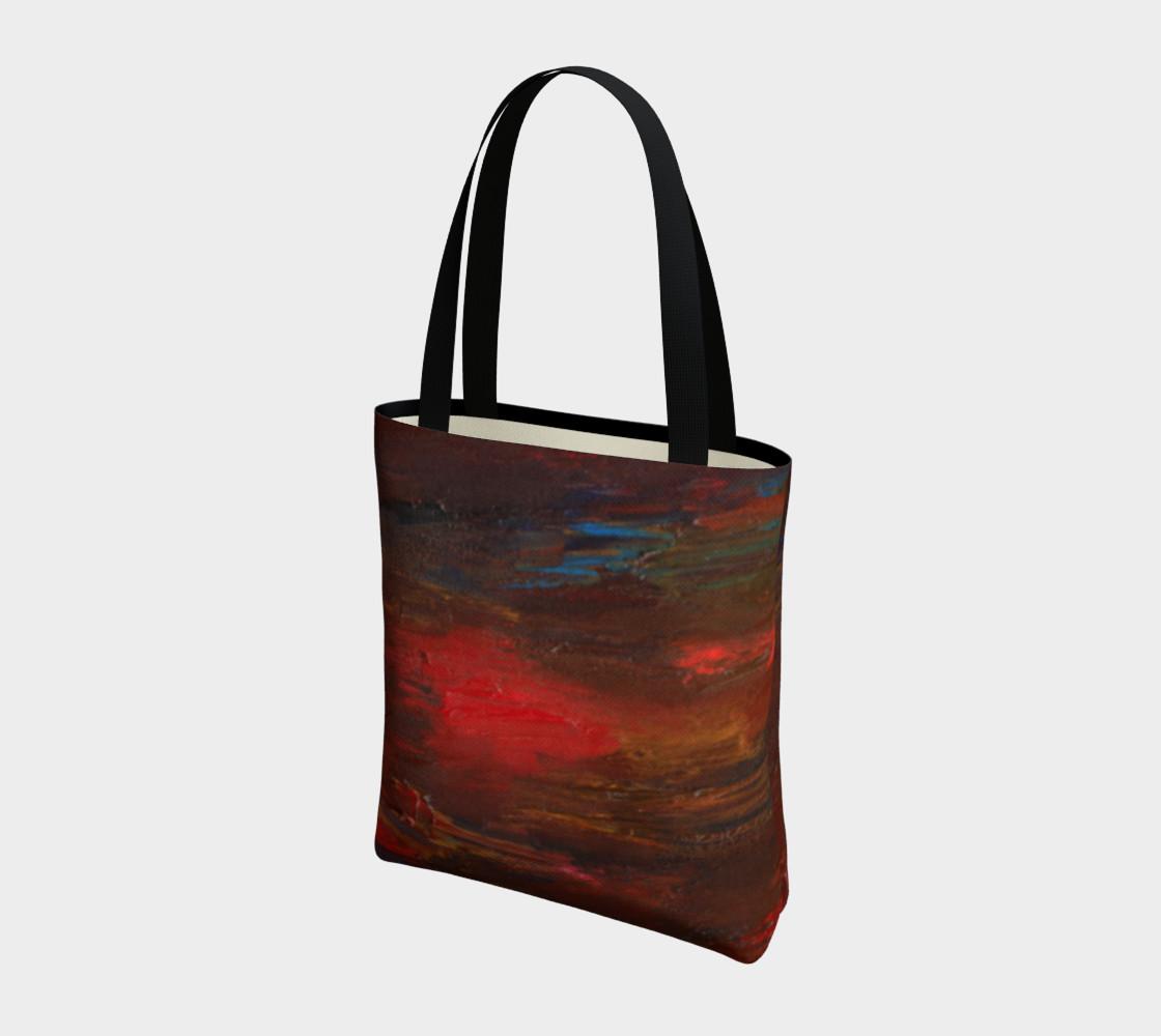 Crimson Ocean Tote Bag preview #3