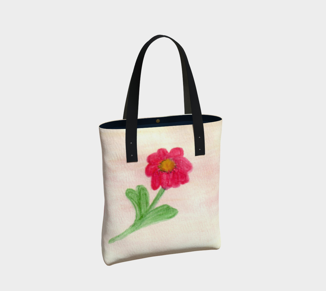 Red Daisy Tote Bag preview #2