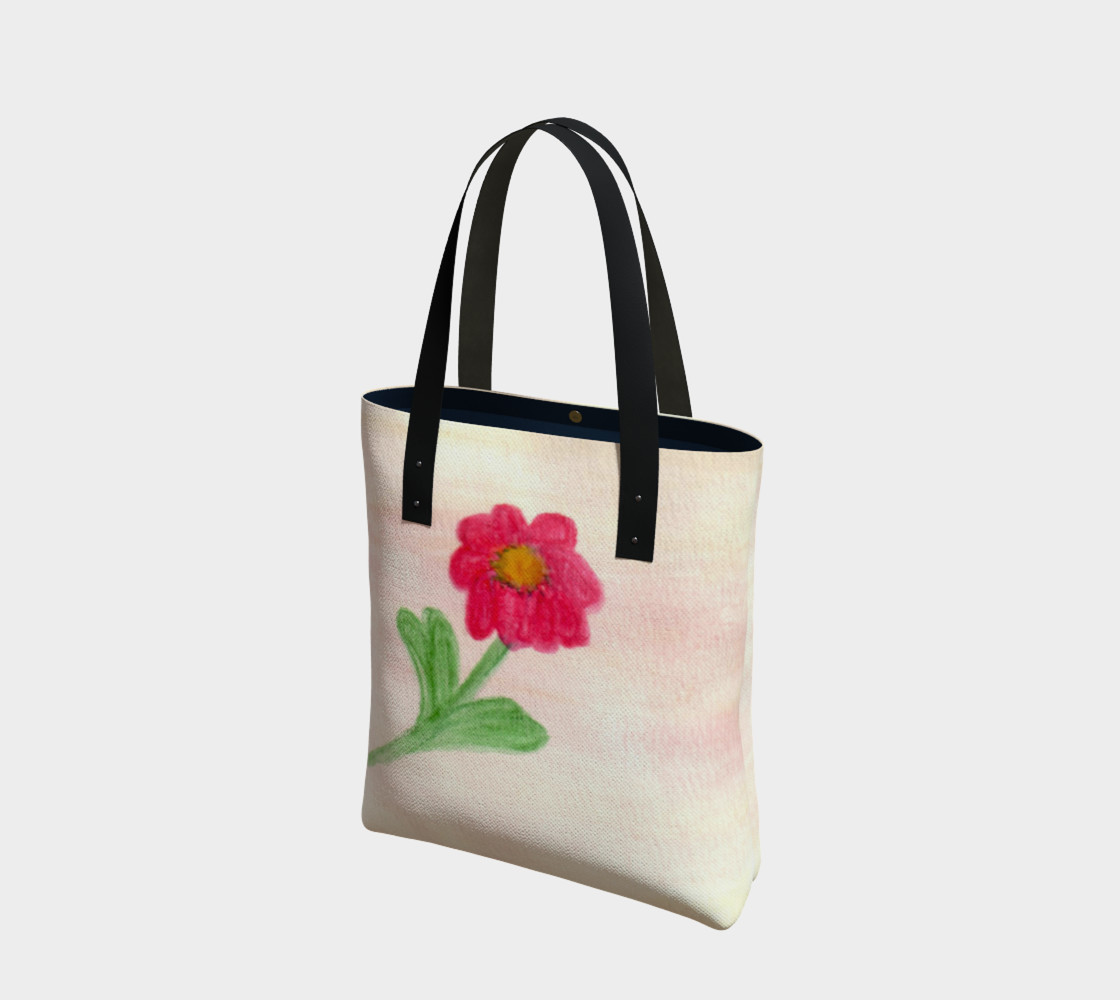Red Daisy Tote Bag preview #1