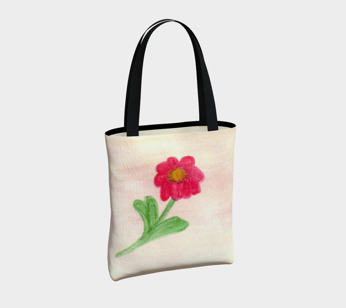 Red Daisy Tote Bag preview #4