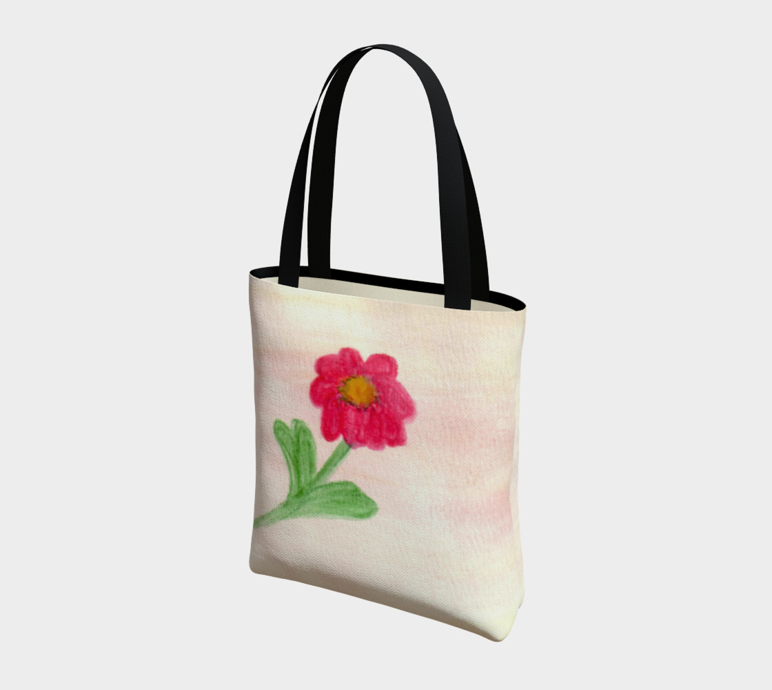 Red Daisy Tote Bag preview #3