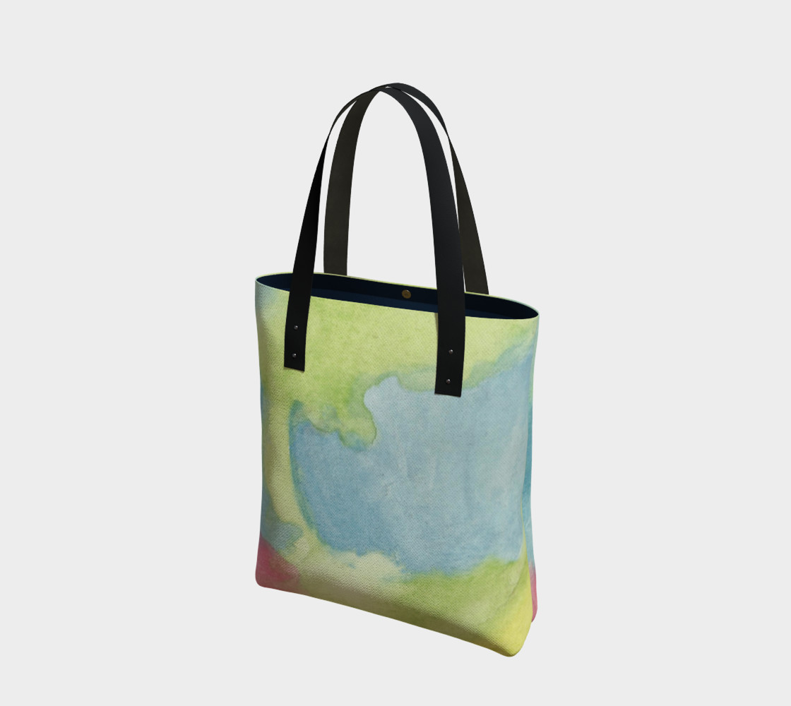 Flowers in Stained Glass Tote Bag preview #1