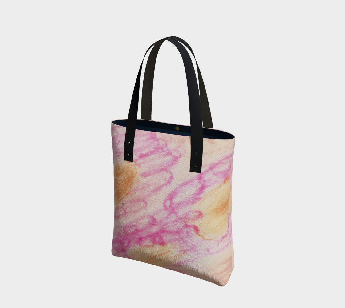 Pink Flowerets Tote Bag preview #1