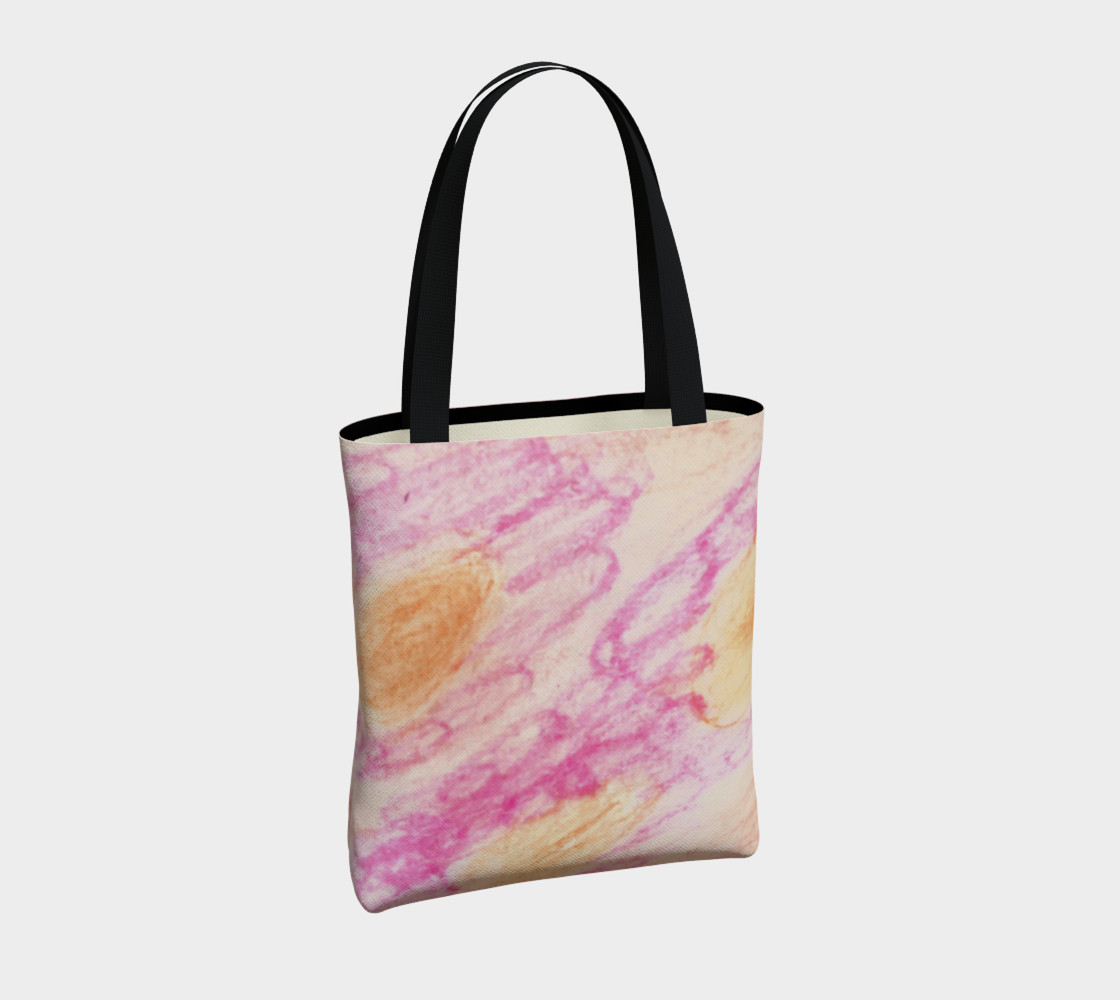 Pink Flowerets Tote Bag preview #4
