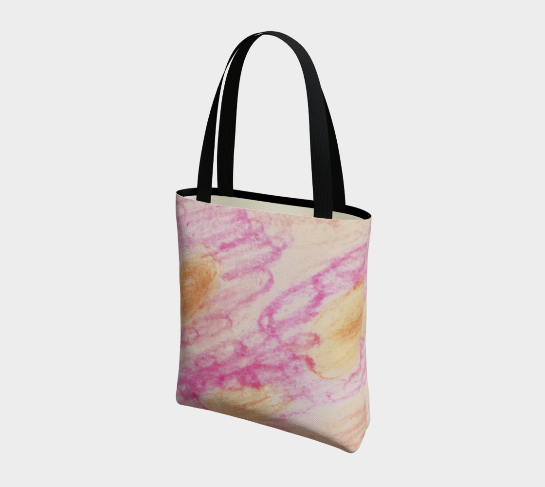 Pink Flowerets Tote Bag preview #3