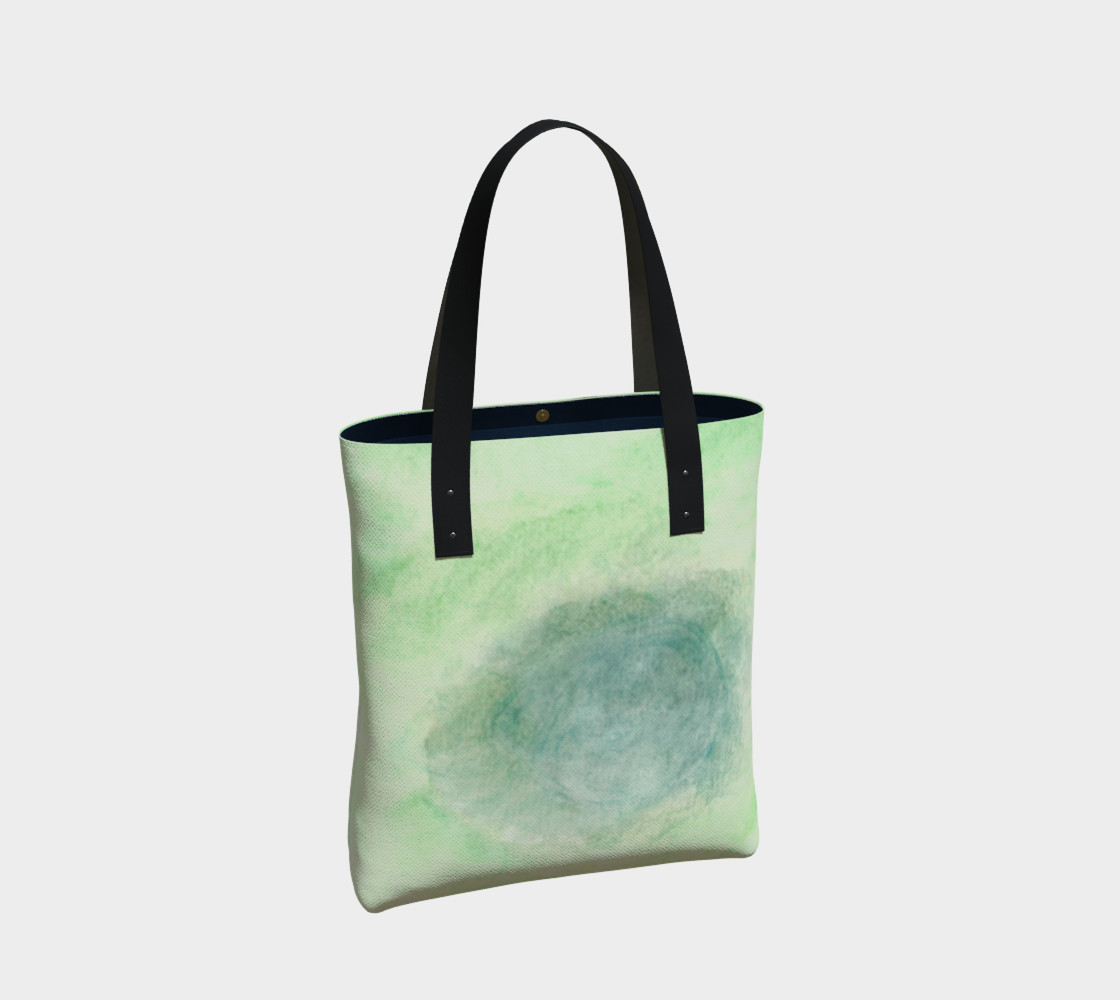 Green Dimension Flower Tote Bag preview #2