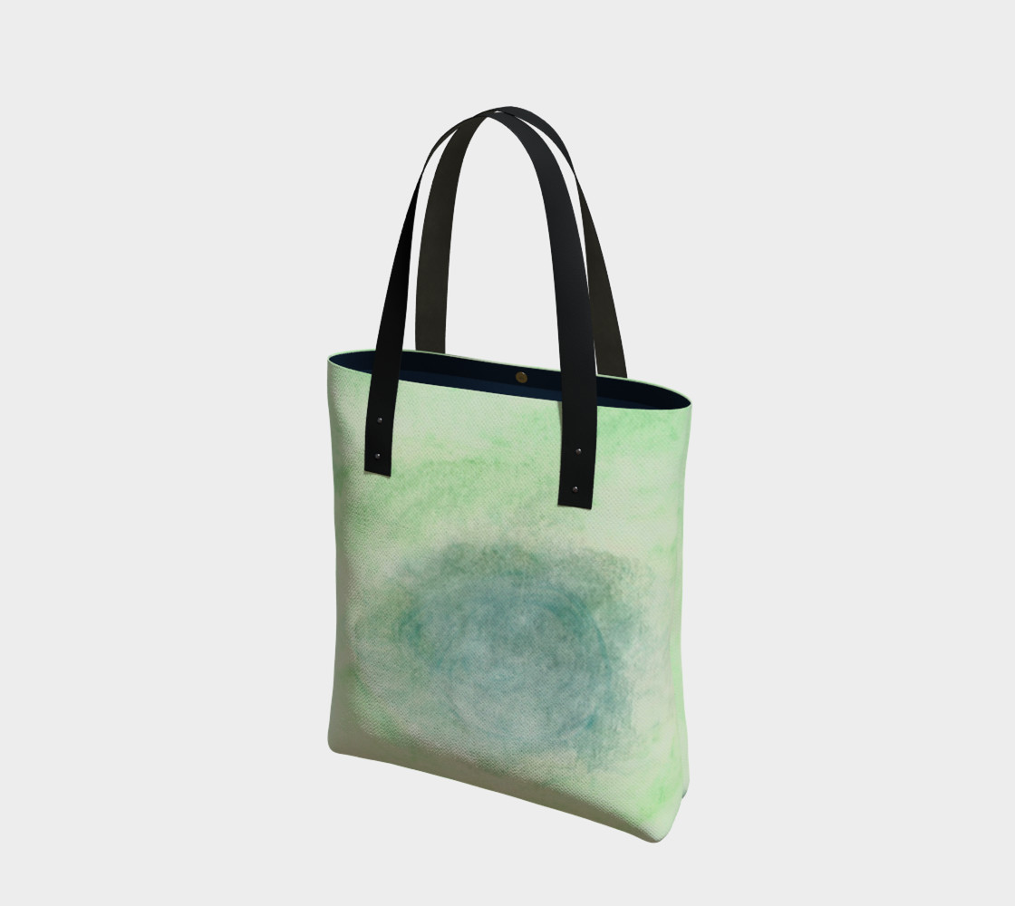 Green Dimension Flower Tote Bag preview #1