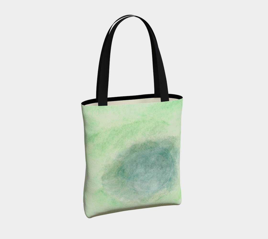 Green Dimension Flower Tote Bag preview #4