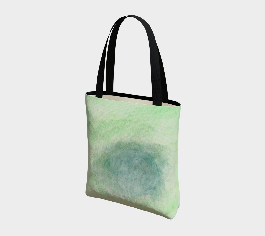 Green Dimension Flower Tote Bag preview #3