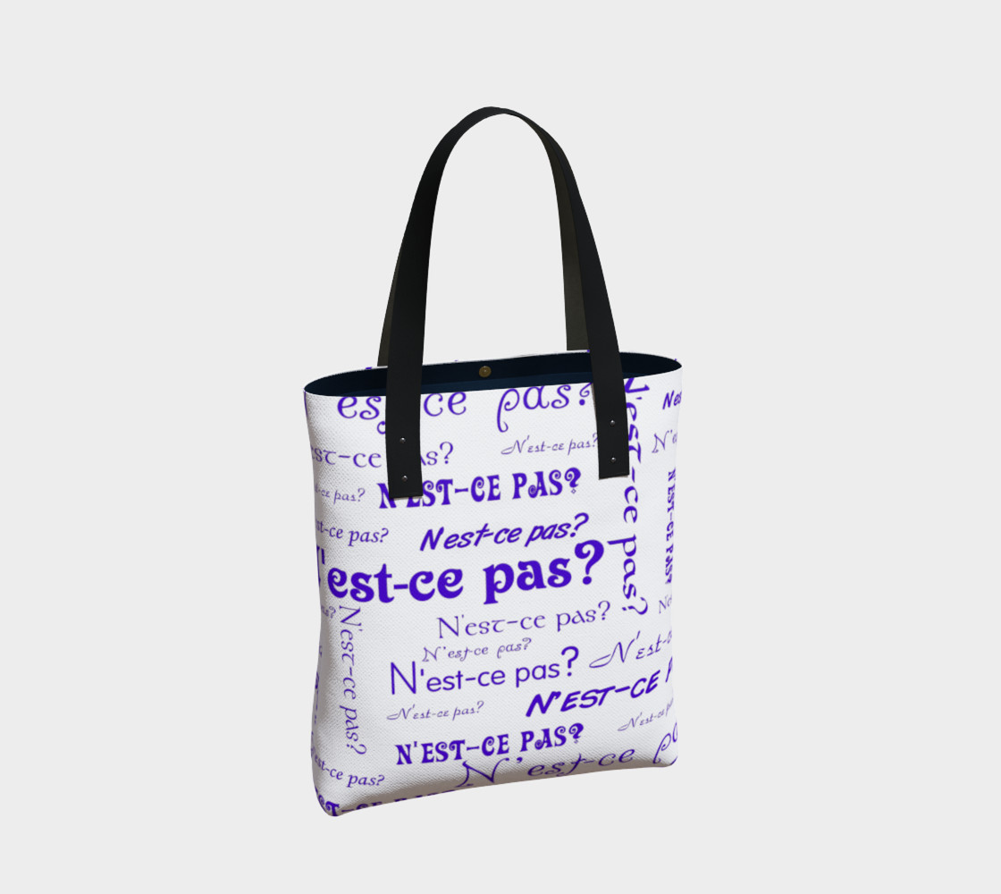 Aperçu de Purple N'est-ce Pas Tote Bag #2