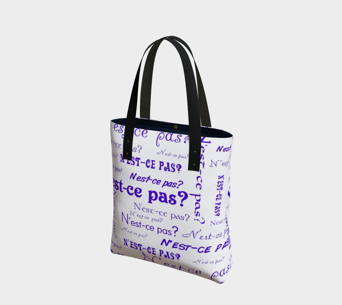 Aperçu de Purple N'est-ce Pas Tote Bag #1