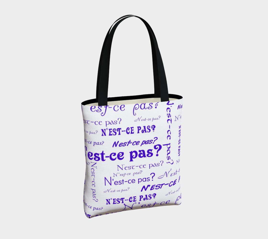 Aperçu de Purple N'est-ce Pas Tote Bag #4
