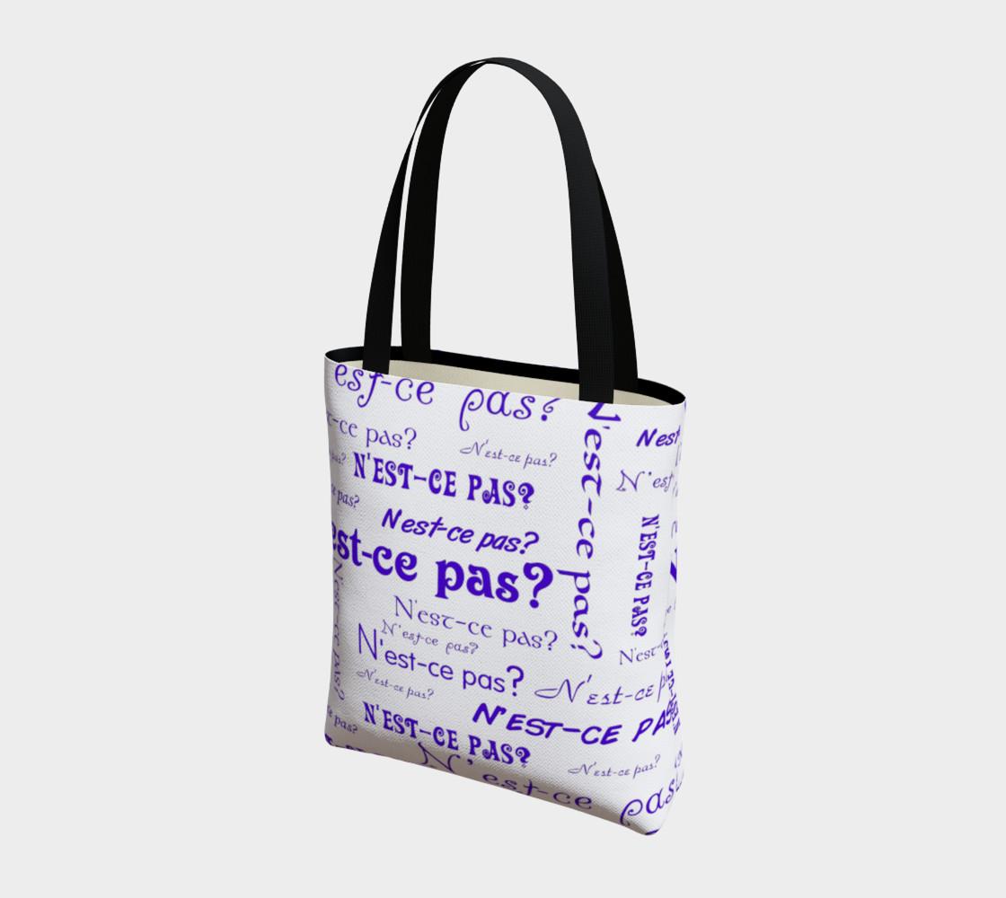 Aperçu de Purple N'est-ce Pas Tote Bag #3