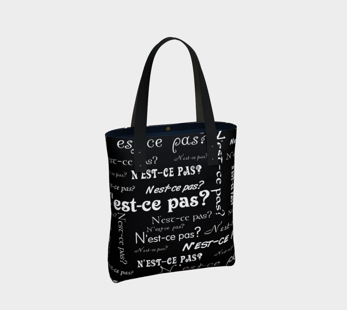 White N'est-ce Pas Tote Bag preview #2