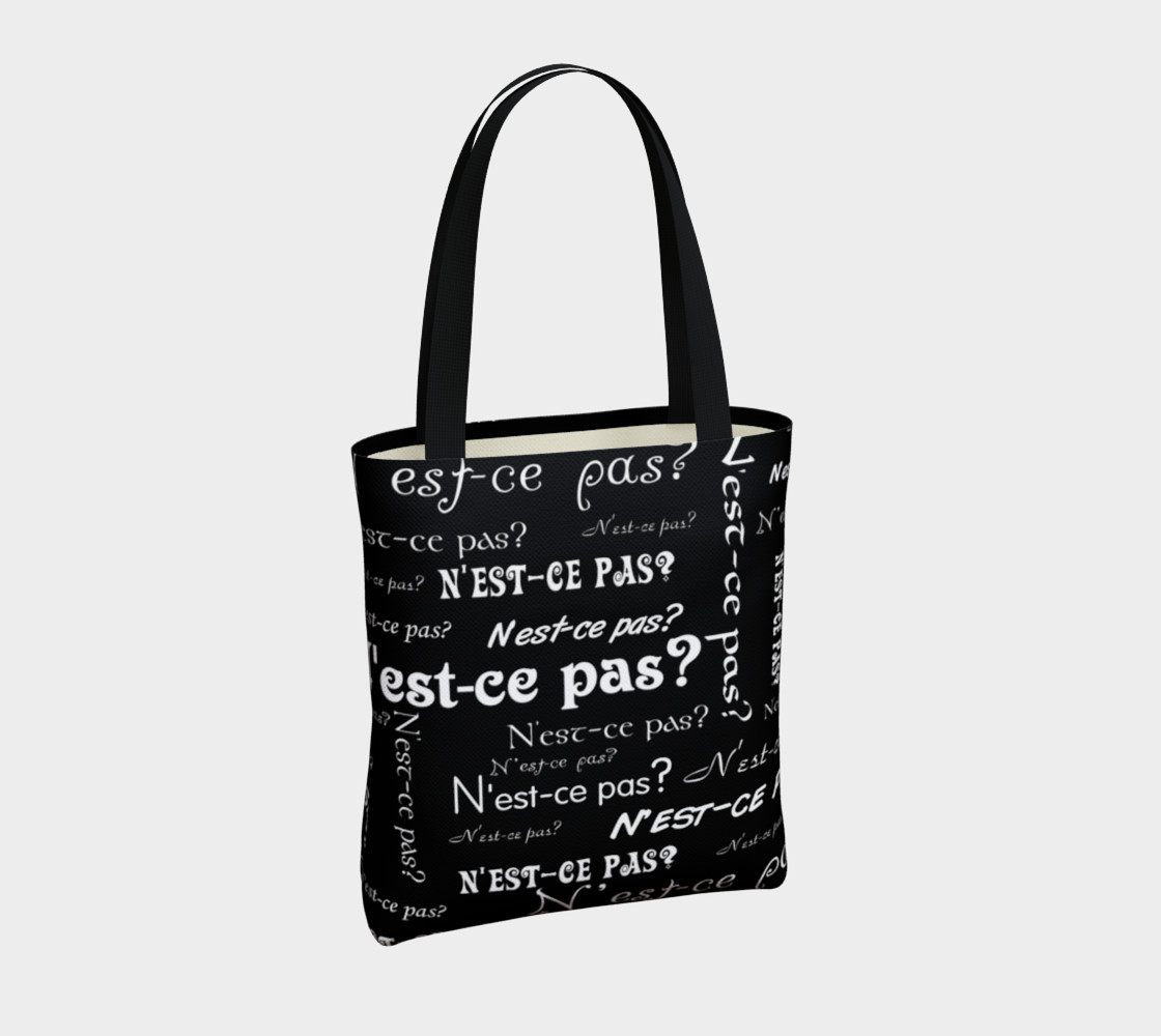 White N'est-ce Pas Tote Bag preview #4