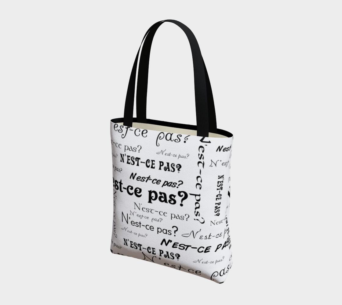 N'est-ce Pas Tote Bag preview #3