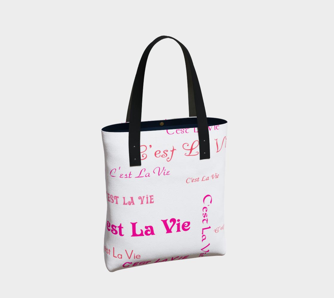Aperçu de Fuchsia C'est la Vie Tote Bag #2