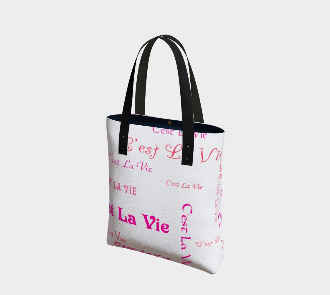 Aperçu de Fuchsia C'est la Vie Tote Bag #1