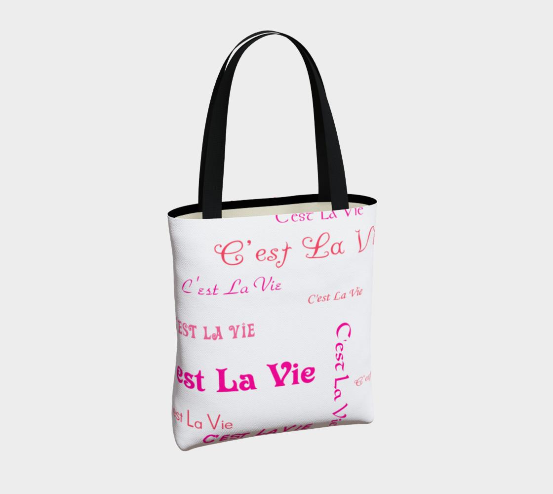 Aperçu de Fuchsia C'est la Vie Tote Bag #4