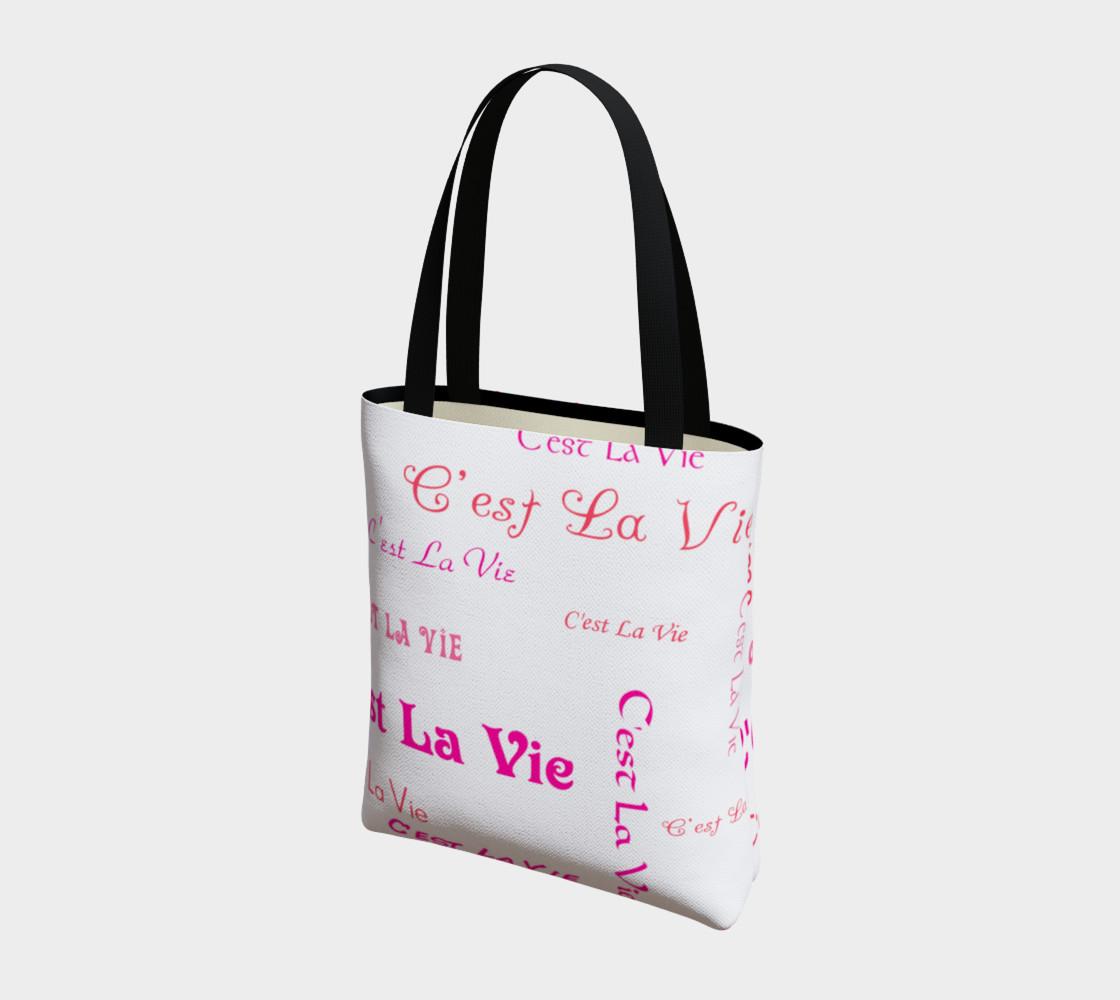 Aperçu de Fuchsia C'est la Vie Tote Bag #3