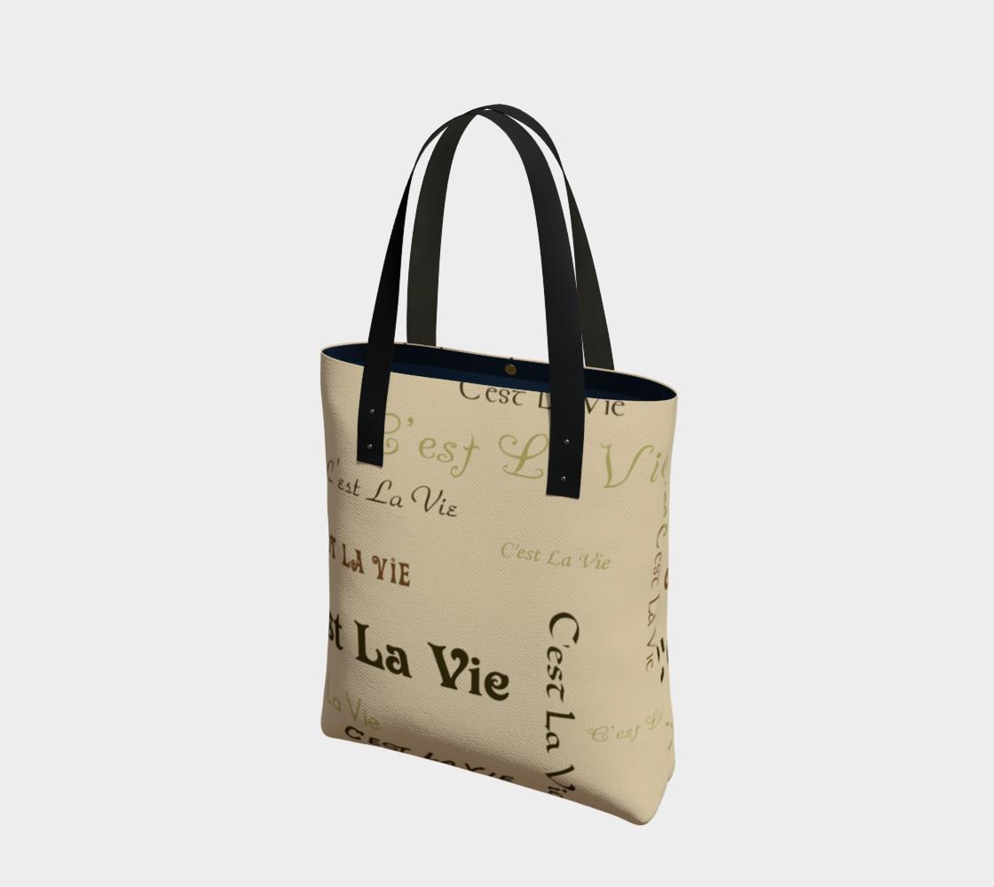 Aperçu de Coffee C'est la Vie Tote Bag #1