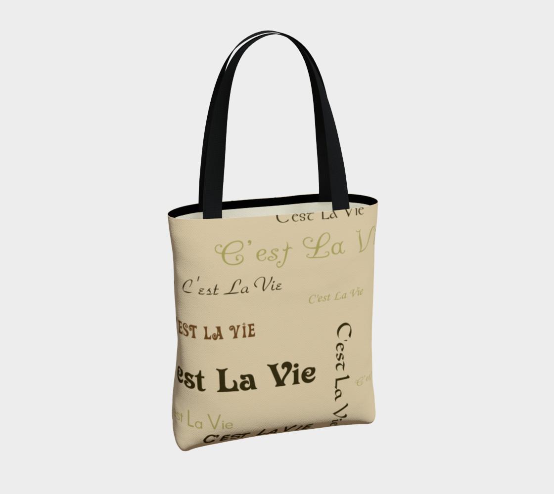 Aperçu de Coffee C'est la Vie Tote Bag #4