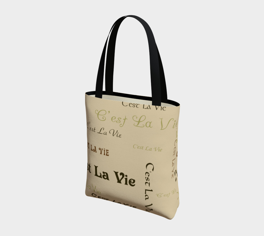 Aperçu de Coffee C'est la Vie Tote Bag #3
