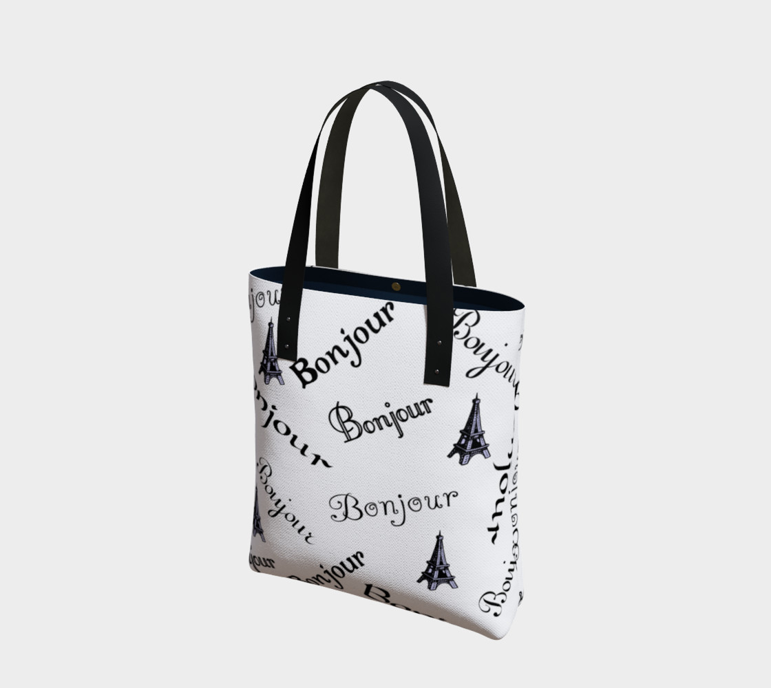 Aperçu de Bonjour Tote Bag #1