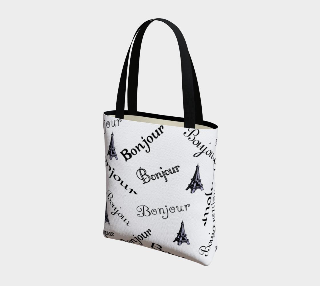 Aperçu de Bonjour Tote Bag #3