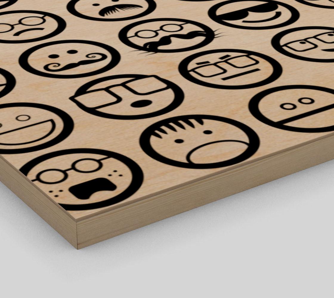Black & White Emoji Faces preview #3