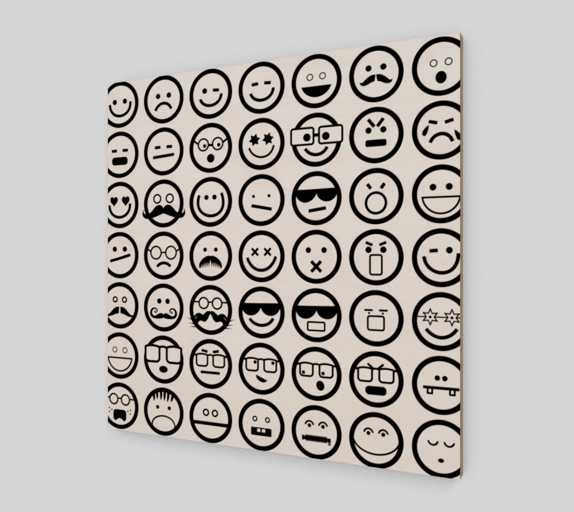 Black & White Emoji Faces preview #2