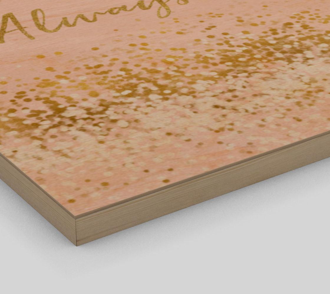 Blush Pink White Gold Confetti Always Sparkle preview #3