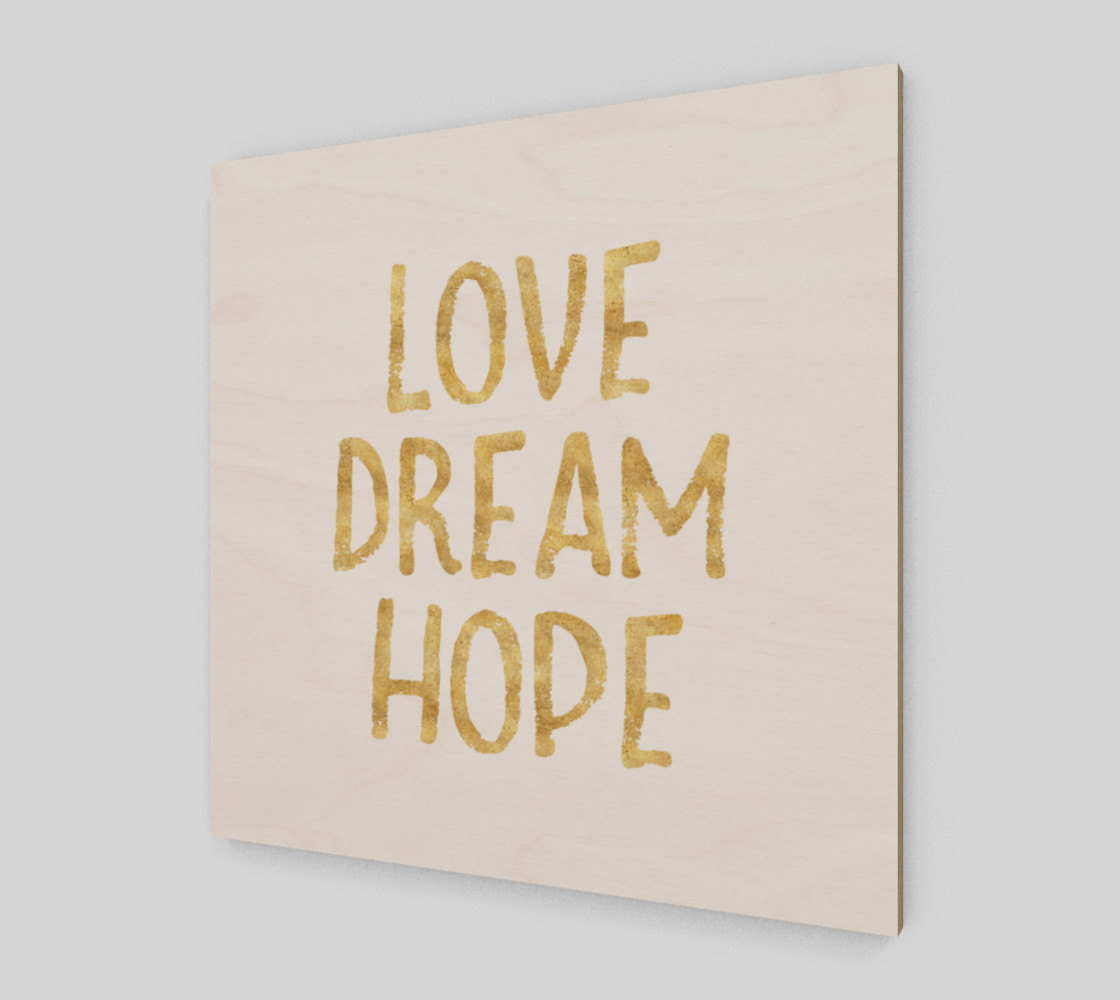 Love Dream Hope Gold Glam Inspirational Quote preview #2