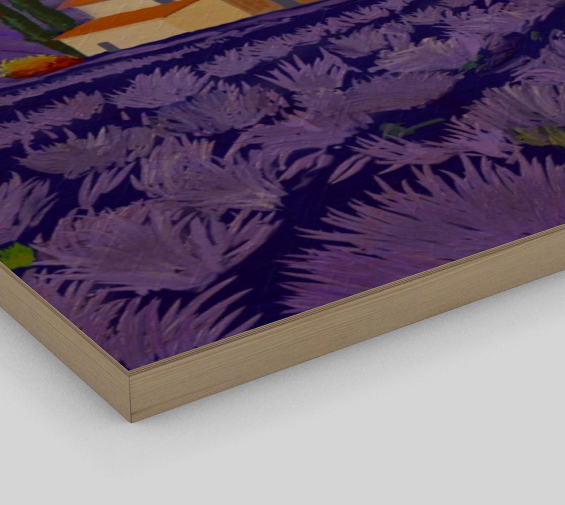Lavender Farm Wall Art Canvas Art Print Poster Wood Print preview #3