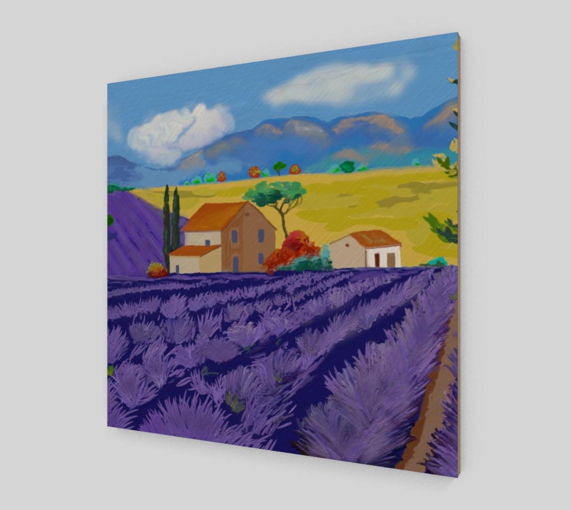Lavender Farm Wall Art Canvas Art Print Poster Wood Print preview #2