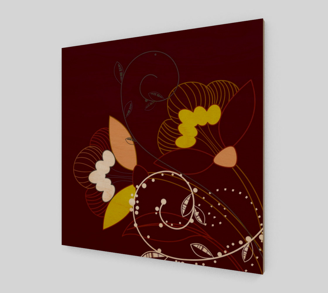 Purple Abstract Lotus Flower Wall Art poster art print canvas wood print preview #1