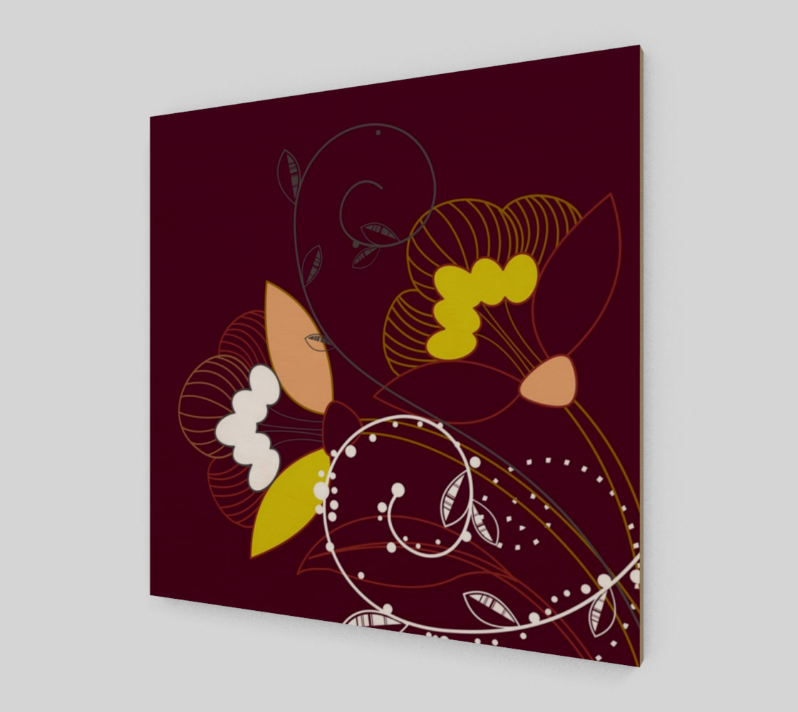 Purple Abstract Lotus Flower Wall Art poster art print canvas wood print preview #2