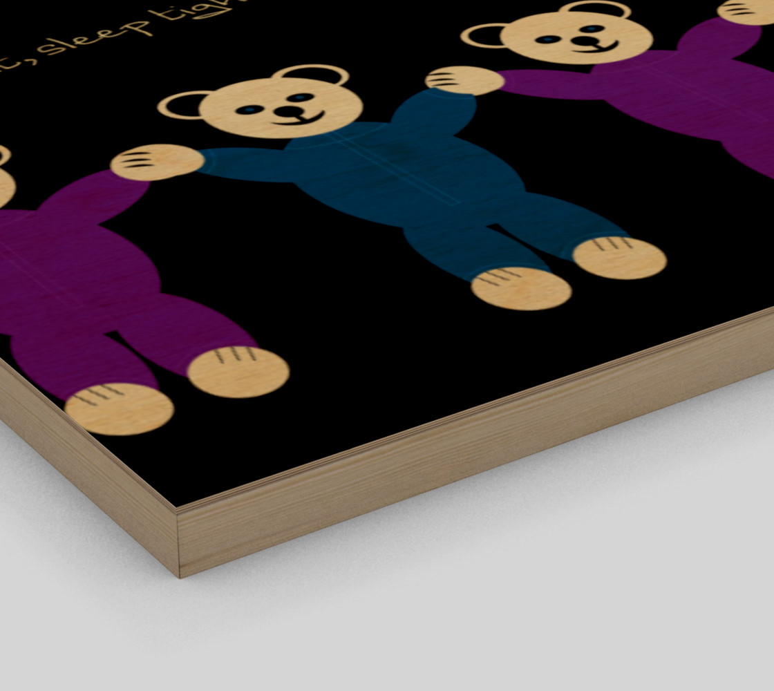 Purple and Blue Sleepy Bears Wall Art poster preview #3